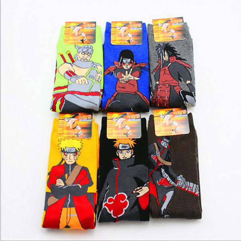 1 Pairs Naruto Cotton Cartoon Socks Personality Tide Socks Anime Men Calcetines Casual Sock Autumn-winter Meias Sox