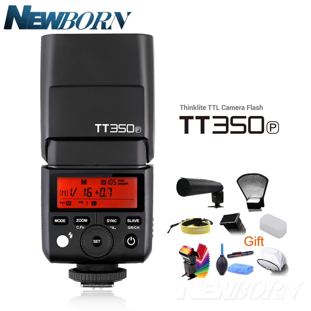 GODOX TT350P Thinklite 2.4G HSS 1/8000 s TTL GN36 Caméra Flash Speedlite pour PENTAX 645Z K-3II K-1 KP K-50 K-S2 K70 Caméra