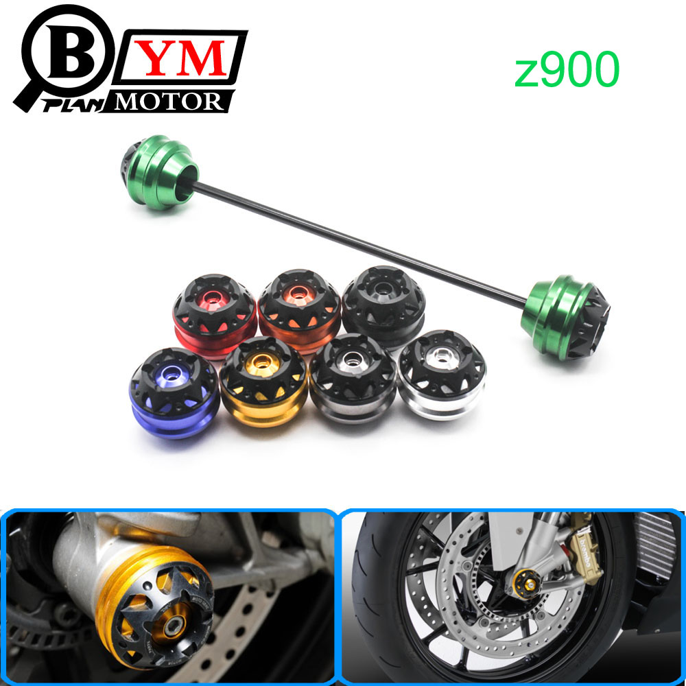 Free shipping For Kawasaki Z900 2017 CNC Modified Motorcycle Front and rear wheels drop ball / shock absorber