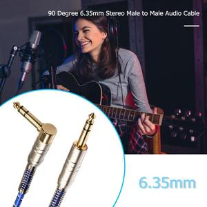 Image 5 - 90 Grado de alta calidad estéreo de 6,35mm macho a macho Cable de Audio para guitarra eléctrica micrófono AMPLIFICADOR DE POTENCIA de combinación de audio