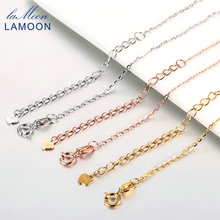 ФОТО lamoon classic 40+5cm/40cm 925 sterling silver rolo chain necklace for woman ci004