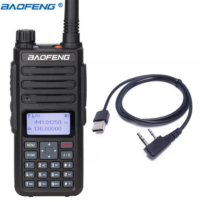 2019 BAOFENG DM 860 7.4V 2200mAh Digital walkie talkie Dual Time Slot DMR Digital/Analog upgraded of DM 1801 + USB Cable-in Walkie Talkie from Cellphones & Telecommunications    1