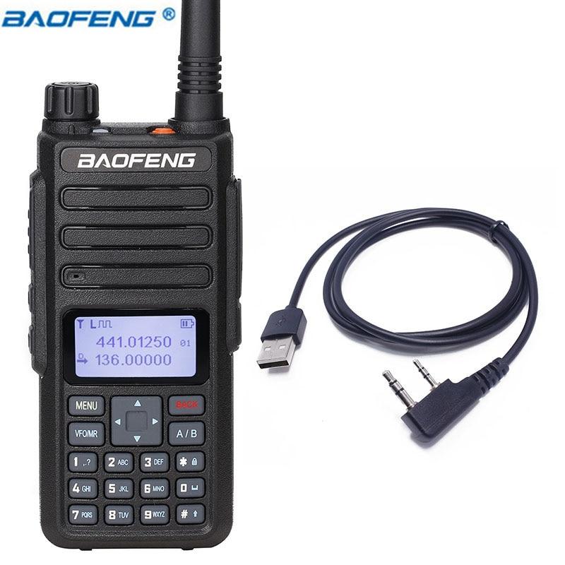 2019 BAOFENG DM-860 7.4 v 2200 mah Numérique talkie walkie Dual Time Slot DMR Numérique/Analogique améliorée de DM-1801 + USB Câble