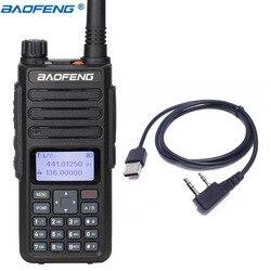 2020 BAOFENG DM-860 7.4V 2200mAh Digital walkie talkie Dual Time Slot DMR Digital/Analog upgraded of DM-1801 + USB Cable