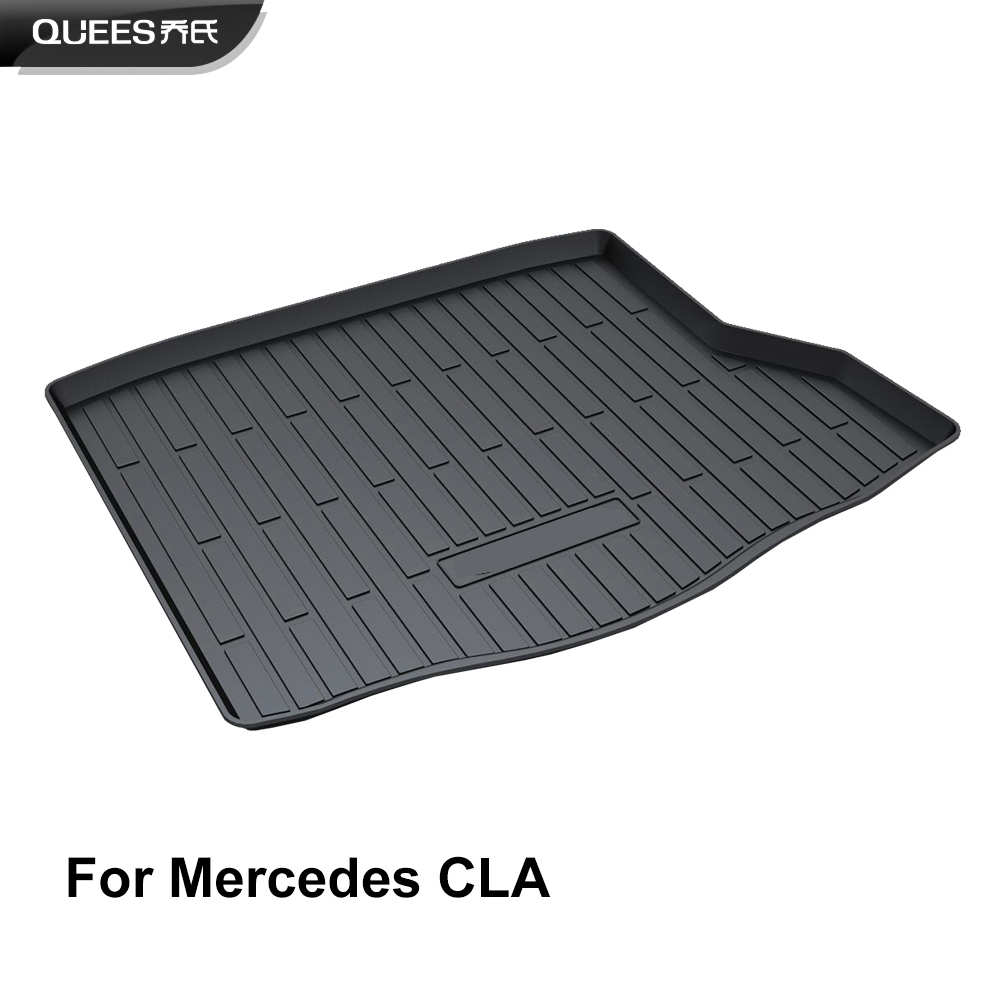 QUEES Custom Fit Cargo Liner Boot Tray Trunk Floor Mat for Mercedes Benz CLA Class 2013