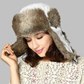 Kenmont Winter Women Lady Fashion Outdoor Ski Earflap Faux Fur Aviator Trapper Bomber Hat Russia Cap 1388