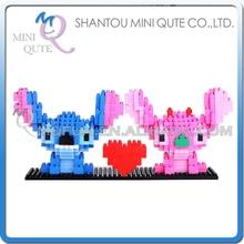 Full Set 2pcs/lot Mini Qute Kawaii CKL kawaii cartoon kids Stitch gift plastic building blocks bricks model educational toy