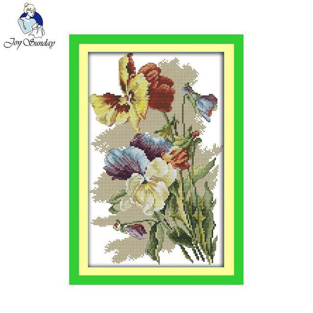 Joy Sunday Flower Style Pansy Beaded Embroidery Pattern Free Cross