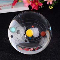 8cm Solar System Eight Official Planets Crystal balls FengShui Household Decoration Astronomical Celestial Galaxy Glass Balls