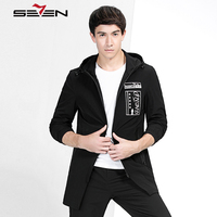 Seven7 Fashion Men S Trench Coat Long Jacket Men Winter Spring Autumn Male Hooded Parka Casual