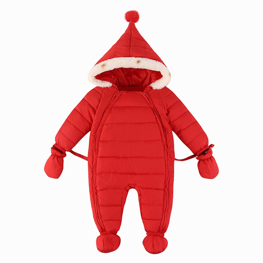 3M-12M Baby Rompers Newborn Clothes Winter Warm Hooded Jumpsuit Overalls Snow Outfits Enfants Boys Girls Clothing spring baby boys girls clothing winter baby hooded rompers cotton padded kids warm overalls climb clothes for newborn babies