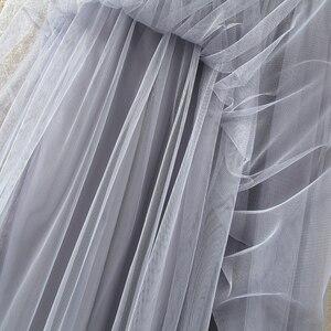 Image 5 - Tigena Dài Voan Váy Nữ Mùa Hè 2020 Thun Cao Cấp Phối Lưới Tutu Váy Xếp Ly Nữ Đen Trắng Xám Váy Maxi