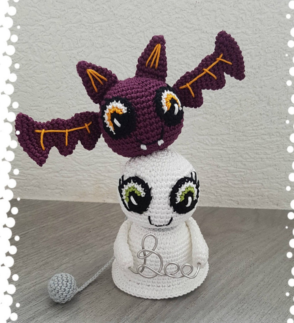 Crochet Toys  Amigurumi  Doll    Ghost  Mode     Number  LS0031