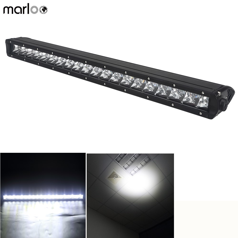 2019 New Style Marloo 20 22 Inch Straight Led Work Light Bar 100w Single Row Bar Light 12v 24v For Car Truck Motorcycle Jeep Suv Fog Lamp Unequal In Performance