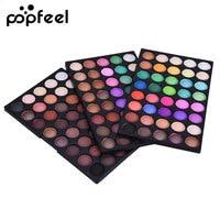 Popfeel 120 Colores Nude Paleta de Sombra de ojos Profesional Marca de Maquillaje de Ojos Glitter Kit de Sombra de Ojos Mate Paleta de Sombra de Ojos Natural
