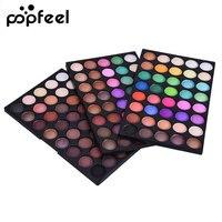 Popfeel 120 Colors Nude Eyeshadow Palette Professional Brand Eye Makeup Glitter Eye Shadow Kit Matte Natural