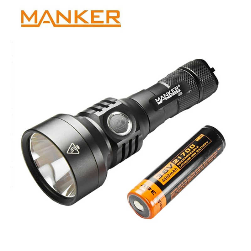Manker U22 1500 التجويف كري XHP35 مرحبا مصباح ليد جيب سريع شحن USB نوع-C كشاف جيب + 4800 mAh 21700 بطارية قابلة للشحن