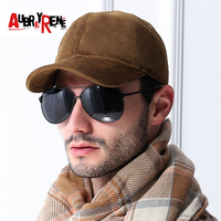 AUBREYRENE High Grade Warm Winter Autumn 100 Cotton Baseball Caps Snapback Hat Fitted Caps Men Thickened