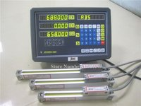 New 3 Axis digital readout with linear scale 100 1020mm 5micron linear encoder complete dro kits free shipping