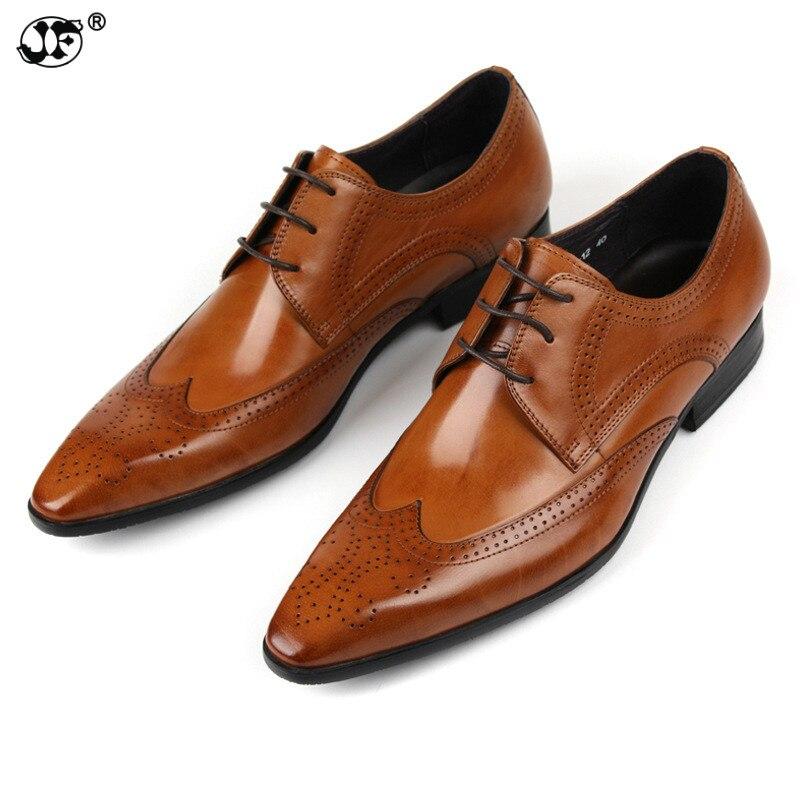 Brand business mens dress shoes genuine