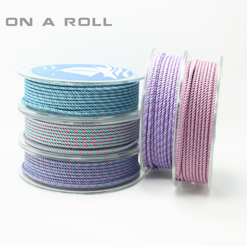 2MM color milan cord Jewelry & packing & shoes rope Necklaces & Bracelets cords 6meters/roll NO16~29