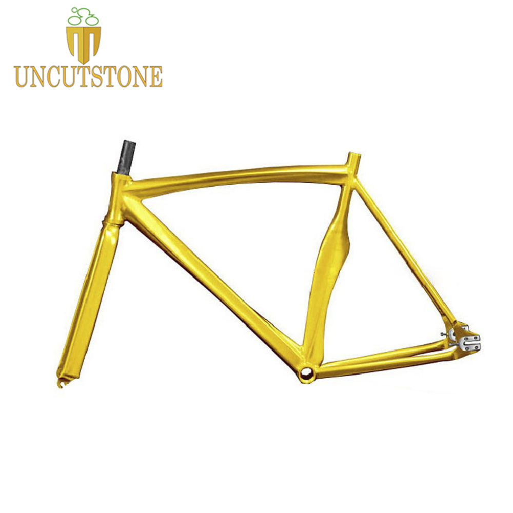 Fixed Gear Bike Frame 53cm Fixie Bike Frame  Smooth Welding Track Bike Frame  Aluminum Alloy 700c Frame
