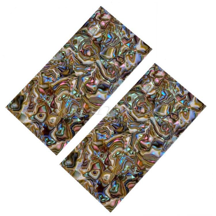 2Pcs Celluloid Head Veneer Multicolor Shell Guitar Parts Shell Sheet 19.9*9.8*1.5cm