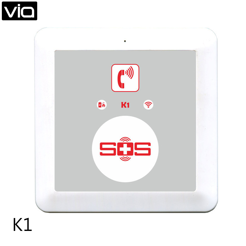 King Pigeon K1 Direct Factory SOS Alarm Wireless GSM Dialer Android APP Elderly Alarm System Home Security SOS Panic Button 2 receivers 60 buzzers wireless restaurant buzzer caller table call calling button waiter pager system