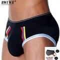 Estirar y ajustar tela modal men underwear briefs moda bolsillo independiente s/m/l/xl/xxl bajo-cintura calzoncillos casa gay cueca
