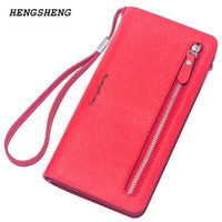 2015 NEW Arrival Women S Wallet Brand Striped Card Purse Candy Color Zipper Phone Wallet Coin