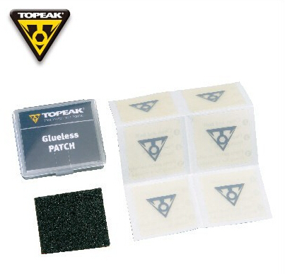 Topeak vélo de route vélo de montagne pneu Patch outils de réparation de pneus FlyPaper sans colle Kit de Patch TGP01 (6 patchs et 1 feuille Abrasive)