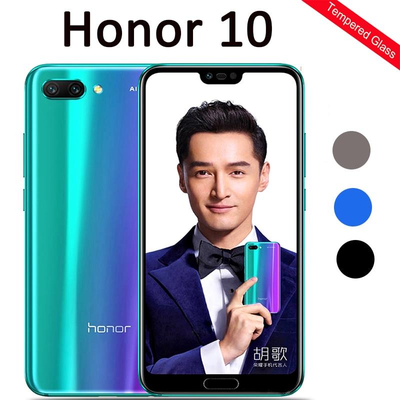 Verre trempé pour Huawei honour 10 verre de protection sur honour 10 COL-L29 honour 10 honer 10 5.84 Film de sécurité protecteur d'écran L29