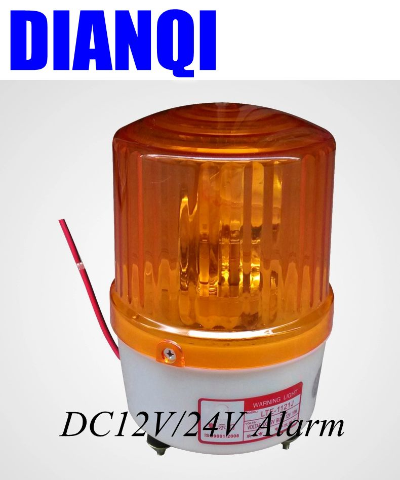 DC12V/24V Warning Alarm Construction Lamp Bulb Rotating Beacon Traffic Light  Police Siren LTE 1121J With Buzzer In Indicator Lights From Lights U0026  Lighting ...