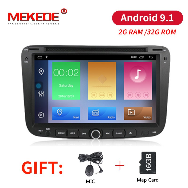 MEKEDE Android 9.1 2G RAM 32G ROM car dvd audio radio player for GEELY Emgrand EC7 with WIFI BT GPS navigation 3G