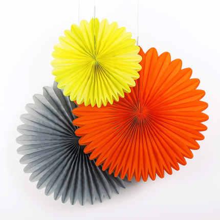 Kích thước lớn 40 CM Khăn Giấy Tổ Ong Quạt Giấy Pinwheels Treo Hoa Giấy Sinh Nhật Tiệc Cưới Lễ Hội Trang Trí