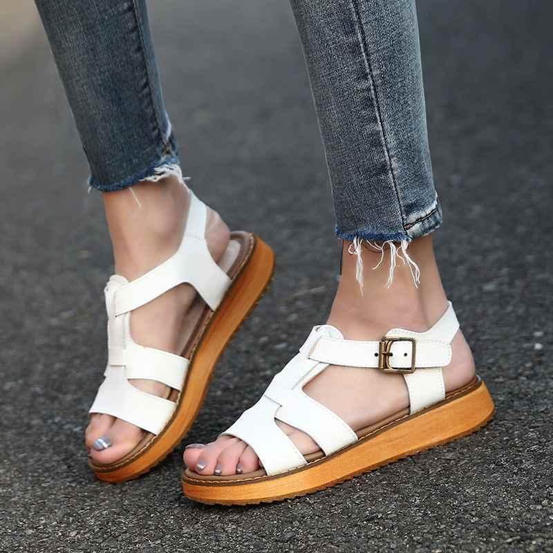 Ünlü tasarımcı örgü gladyatör sandalet kadın hakiki deri flip flop arka askı platformu sandalias gümüş yaz ayakkabı kadın