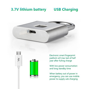 Image 5 - KERUI USB Rechargeable Anti Theft Security Keyless Electronic Fingerprint Smart Lock Padlock Home Door Bag Luggage Case Lock