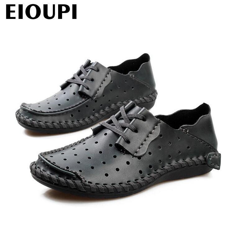 Design Casual Sapato 3 Top Escavar Respirável Negócios Real Couro Lh858 Novo Eioupi Quality De 4 Genuíno Dos Homens 2 Sapatos Moda fwtxqXBnO