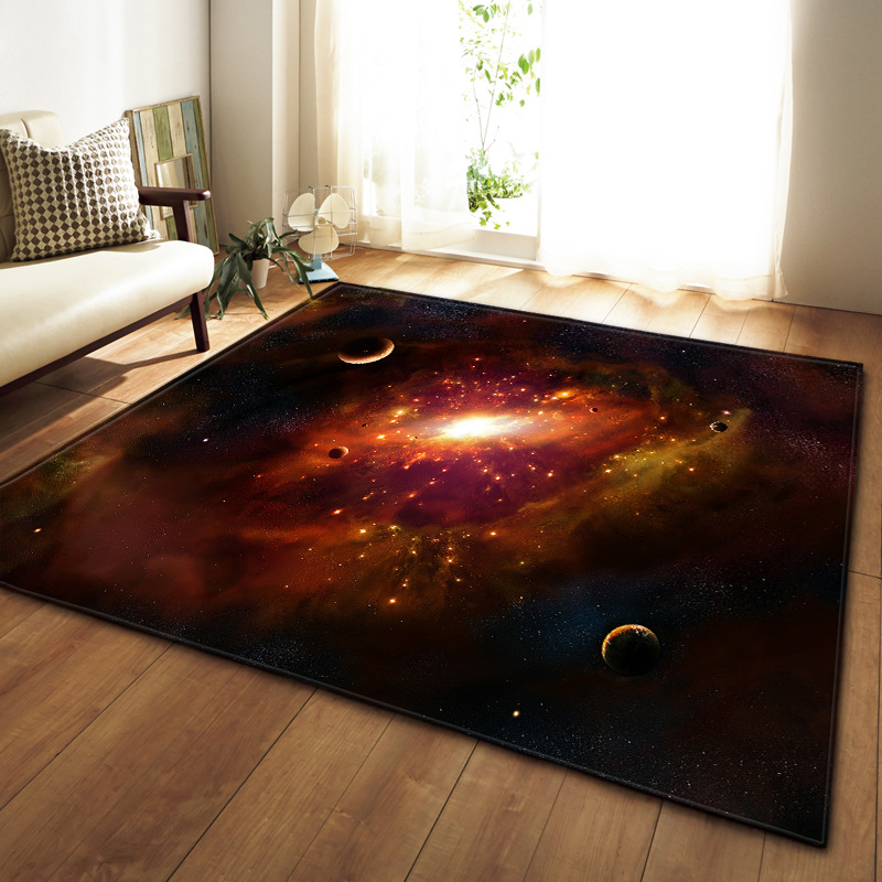 Nordic home decoration simple 3D starry carpet bedroom restaurant carpet size custom alfombras para la sala moderna area rug image