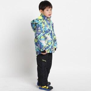 Image 3 - Ensembles de vêtements imperméables épais pour enfants, combinaison de Ski pour bébés filles et garçons, vêtements pour enfants de 4 à 16 ans, vêtements dextérieur pour enfants