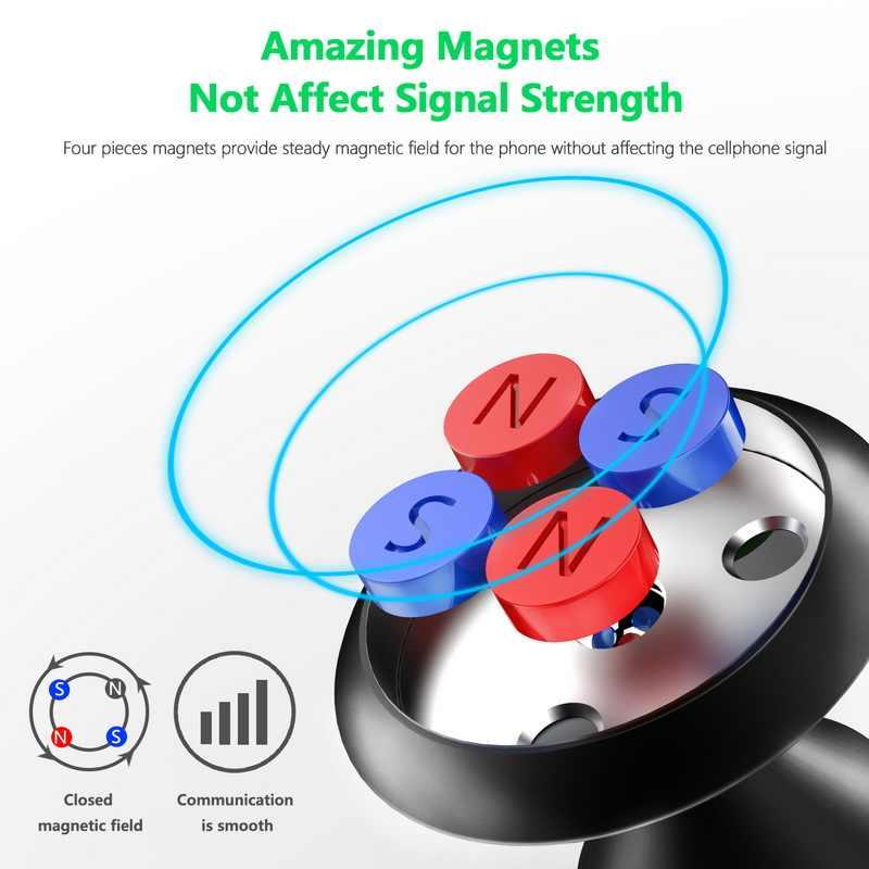 XS GETIHU Magnético Suporte Do Telefone Do Carro Para o iphone Samsung Montagem Universal Em Telefones Celulares Móveis Ímã Do Carro Titular Suporte GPS stand