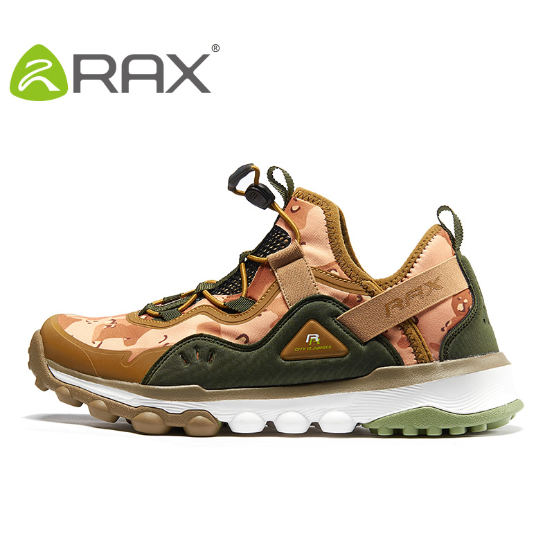 Rax Men Sneakers Men Climbing Shoes Super Light Shock Absorbing All Terrain Hiking Shoes Non Slip Sports Shoes #B2517 2017 new rax spring and summer trace shoes men interference water breathable non slip hiking shoes mesh shock absorber insoles