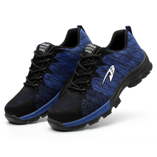 Лидер продаж; Прямая поставка; мужские и женские защитные ботинки; уличная дышащая мужская обувь со стальным носком; Прочные Рабочие кроссовки; 4 цвета
