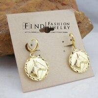 FEIGI00748 THE PASSAGE 7 Gold Filled horse pendant earrings Freeshipping 2PCS./LOT