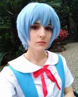 New EVA Neon Genesis Evangelion Ayanami Rei Cosplay Wigs Short Light Blue Synthetic Hair Perucas Cosplay Wig