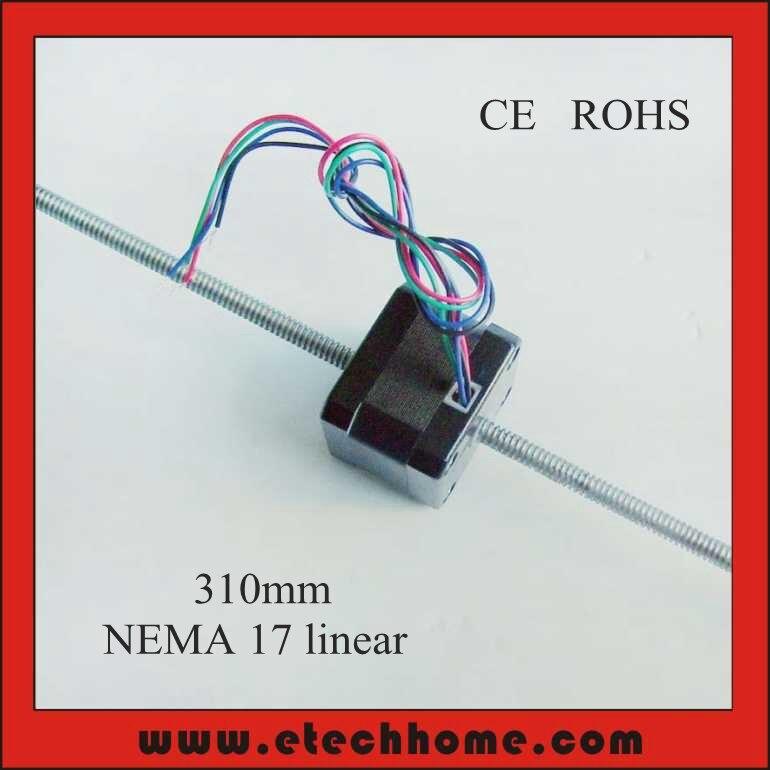 ФОТО NEMA 17 Linear Stepper Motor Lead Screw 310mm Length T6.35 Pitch 1.59mm 1.8 degree