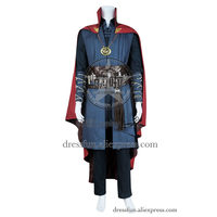 Doctor Strange Cosplay Dr Stephen Costume Full Set New Uniform Suit Outfits Halloween Fashion Party Fast Shipping