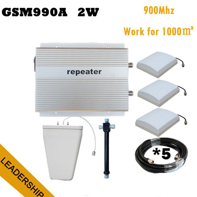 Hot Sale 85dB 33db 2W GSM990A GSM 900MHz 2G Wireless Cellular Mobile/cell Phone Signal Repeater Booster Amplifier Detector