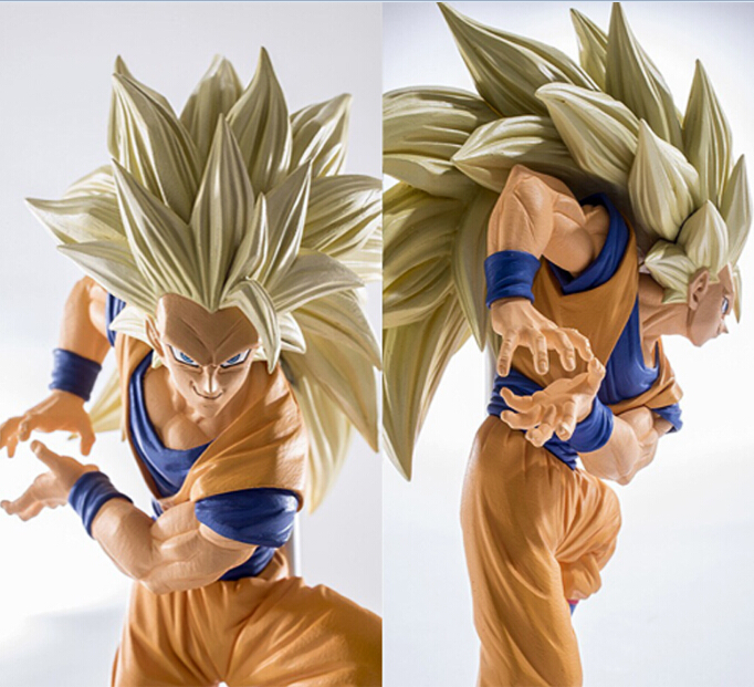 NEW hot 20cm dragon ball Super saiyan three Battle damage Edition Son Goku Kakarotto action figure toys collection christmas toy new hot 18cm dragon ball son goku kakarotto ride a bike action figure toys collection doll christmas gift