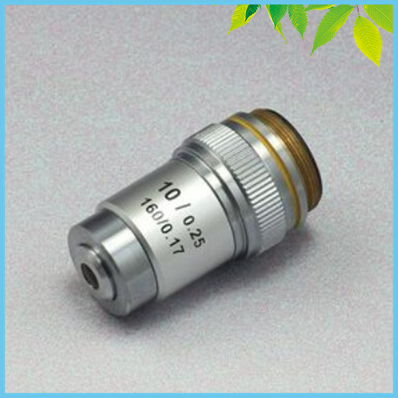 Conjugate Distance 195 Universal Metal 10X Achromatic Objective Lens for Biological Microscope